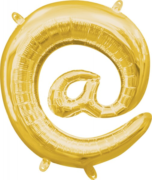 Mini Folienballon Symbol @ gold 35cm