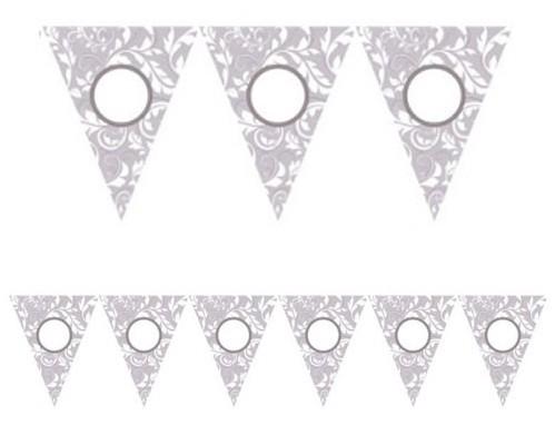 Floral pennant chain silver 7.9m