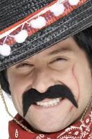 Banditen Schnurrbart Schwarz