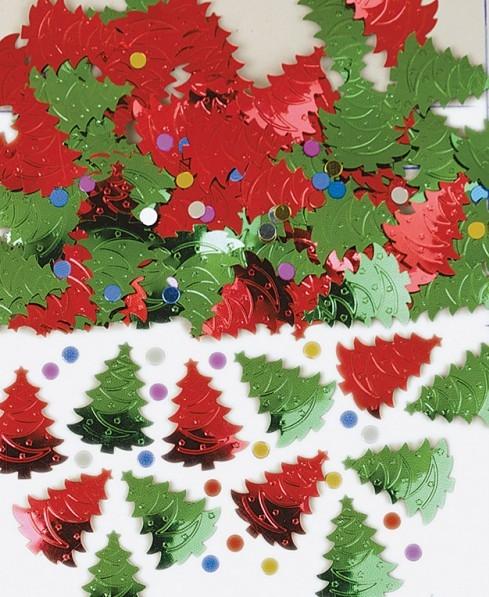 Weihnachtsbaum metallic Streudeko 14g