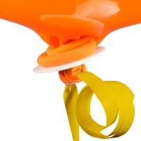 10 gelbe Ballonverschlüsse mit Band