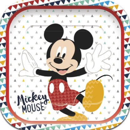 4 Awesome Mickey Mouse Teller 25,5cm