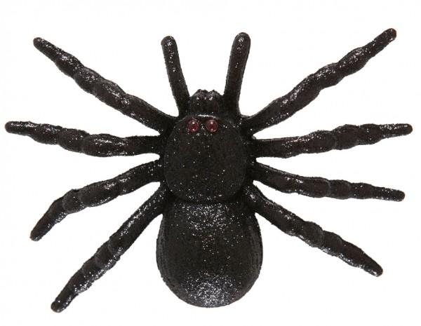 Pince à cheveux pailletée araignée