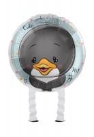 Ballon aluminium petit pingouin Airwalker 43cm