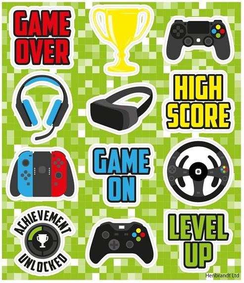 1 Game World Stickerbogen