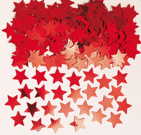 Décoration étoile scintillante Stella rouge métallisé