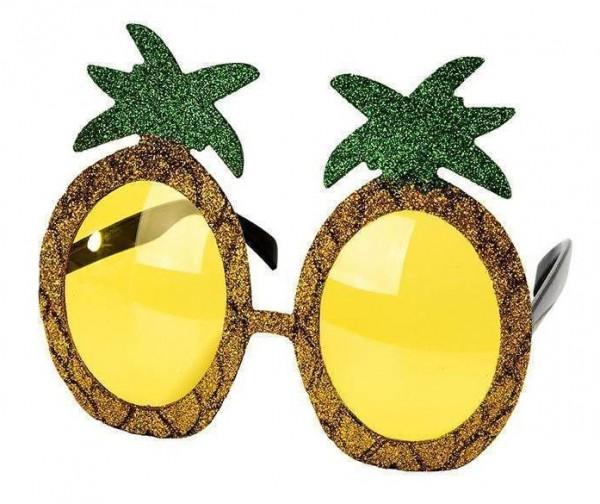 Glitzernde Ananas Sonnenbrille