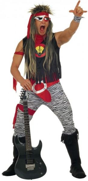 Excessive rock star costume