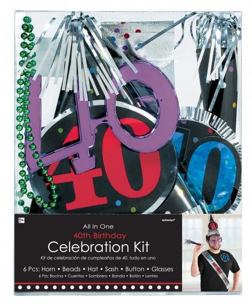 Partyset zum 40. Geburtstag 6-teilig