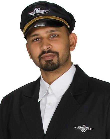 Schwarze Kapitän Torsten Pilotenmütze