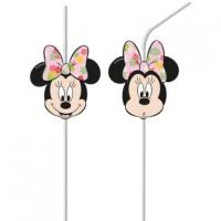 6 Tropical Minnie Mouse Strohhalme