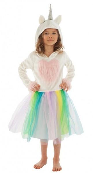 Kostium tęczowego jednorożca dla dziewczynki
