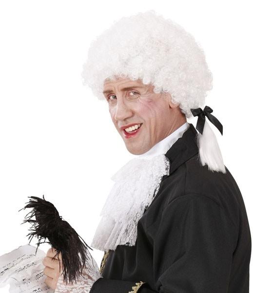 Weiße Mozart Barock Perücke