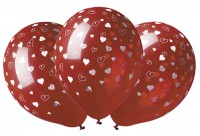 5 globos rojos Amore segreto 30cm