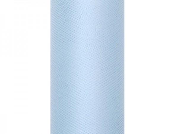 Tule stof Luna pastelblauw 9m x 30cm