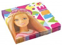 20 Barbie Fashionista Servietten 33cm