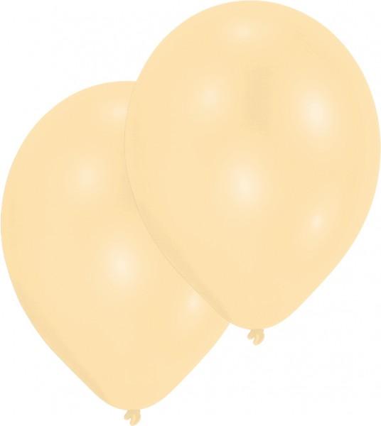 50er-Set Luftballon Elfenbein Perlmutt 27,5cm