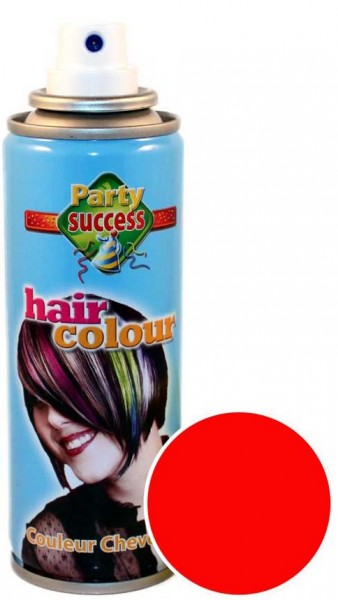 Rotes Color Leucht Haarspray 125ml