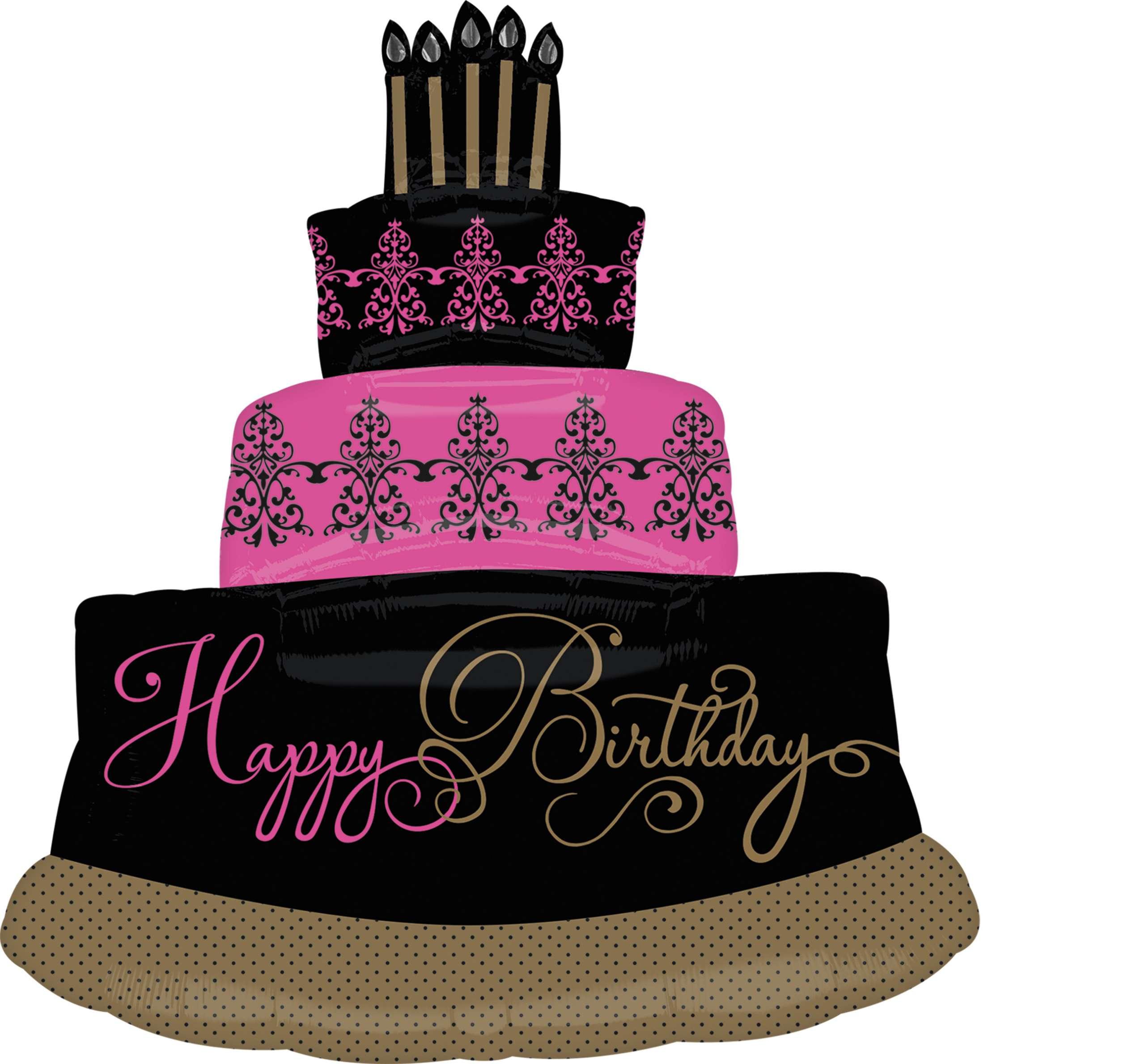 Brilliant Fabulous Birthday Cake Foil Balloon 81Cm Party365 Com Funny Birthday Cards Online Elaedamsfinfo