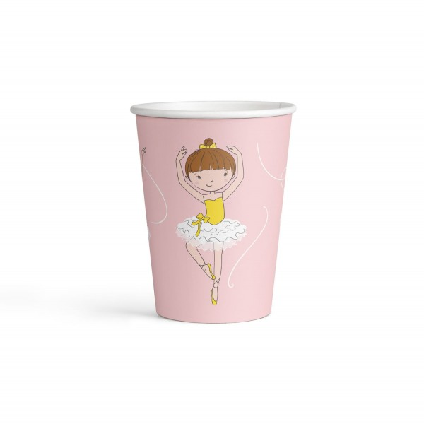 8 small ballerina paper cups 250ml