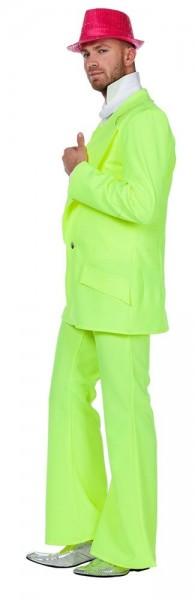 Costume de Soirée Neon Disco Années 70 Jaune