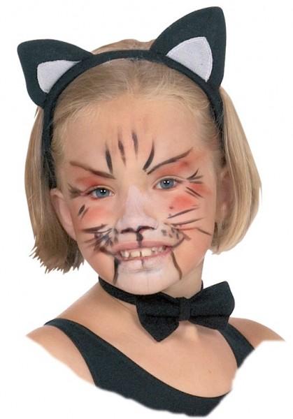 Niedliche Katzenohren Für Kinder Schwarz-Weiß
