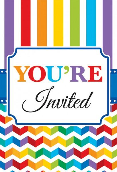 20 Rainbow Birthday Einladungskarten