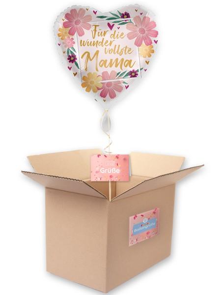 Wundervollste Mama Herz Folienballon 43cm
