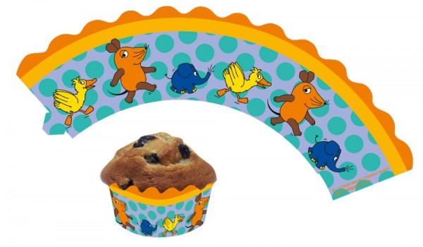 12 Send mit der Maus muffin bands