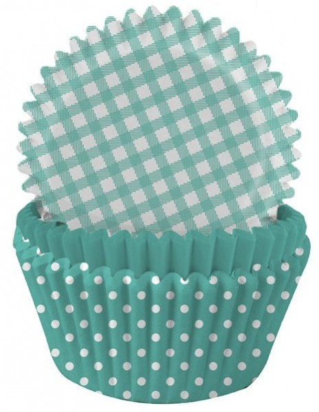 75 turquoise muffin tins Delight 5cm