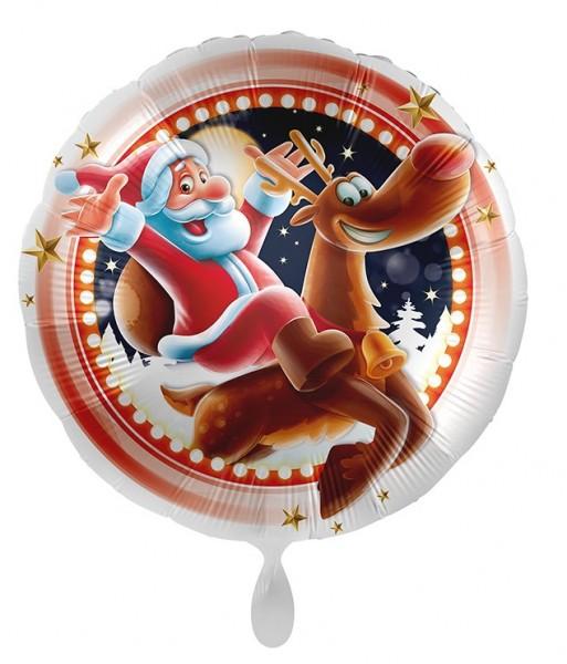 Ballon en aluminium Happy Santa Christmas 71cm