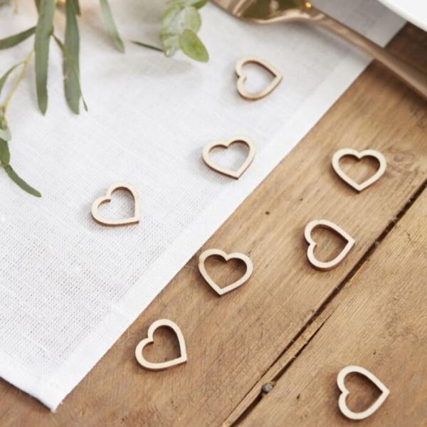 25 confeti de decoración corazón