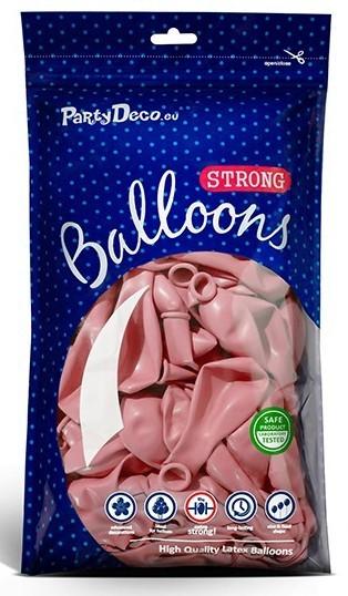 10 ballons étoiles rose clair 30cm