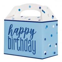 6 Geburtstags Geschenkboxen blue dots