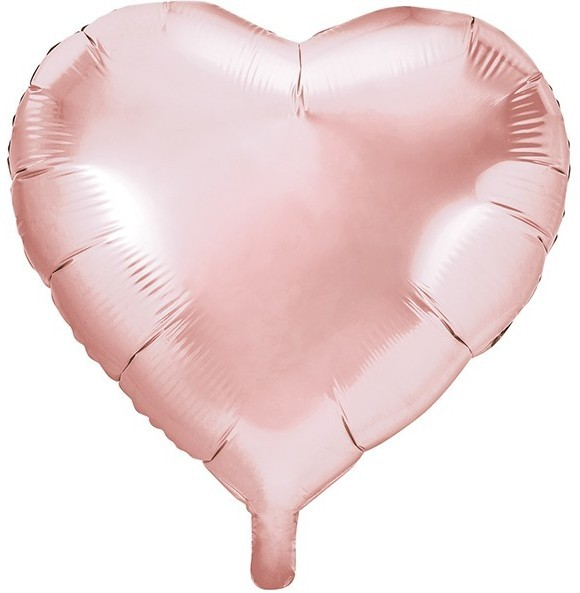 Heart-shaped Foil Balloon Rose Gold 61cm