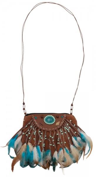 Indianer Feder Handtasche Kamali