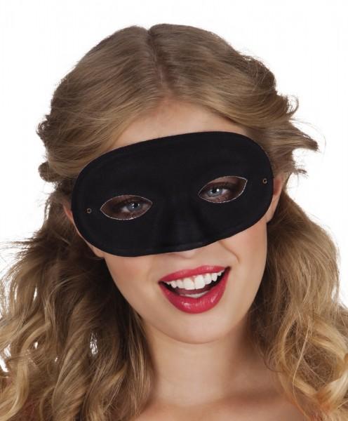 Schwarze Augenmaske Nico