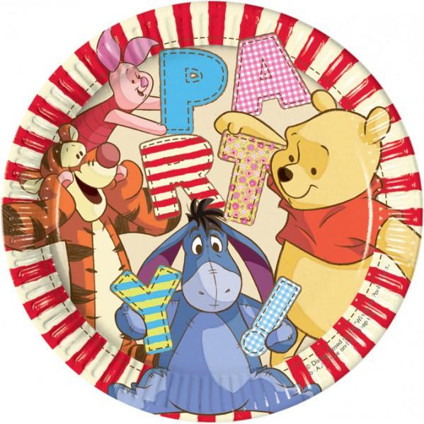 8 Party Winnie Puuh Pappteller 23cm