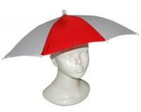 Regenschirm-Hut Rot-Weiß