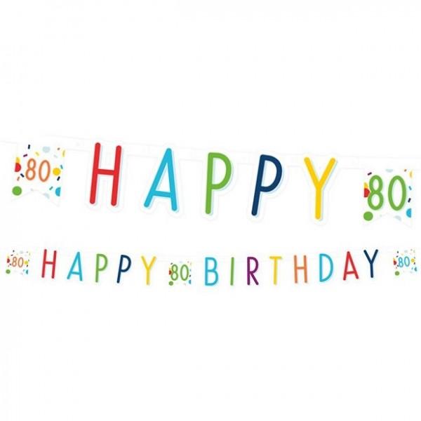 80. Geburtstag Konfetti Girlande