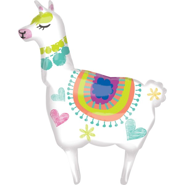XL Happy Lama foil balloon