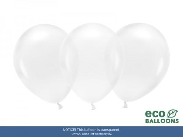 100 eko kryształowych balonów przezroczystych 26cm