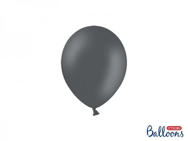 100 Partystar Luftballons anthrazit 12cm