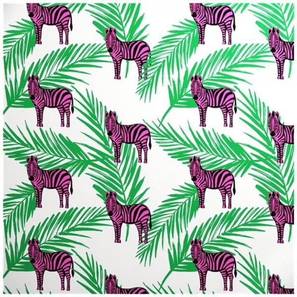 Wrapping paper Pink Zebra Eco