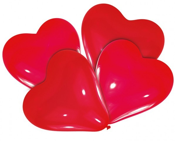 10 Heart Balloons Giulia Red 40cm