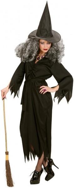 Schwarzes Halloween Hexen Kostüm