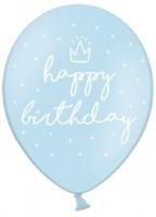 6 My Birthday Luftballons blau 30cm
