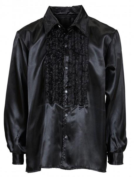 Schwarzes Rüschenhemd Joscha