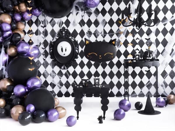 100 Eco Pastell Ballons schwarz 26cm