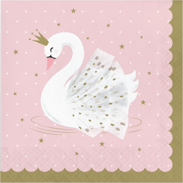 16 Royal Swan Servietten 33cm